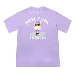 Áo Phông MLB New York Yankees Cash Cow Short Sleeve T-shirt Màu Tím