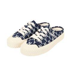 Giày Hở Gót MLB Korea Unisex Street Style Logo Sandals Màu Xanh Navy Size 250