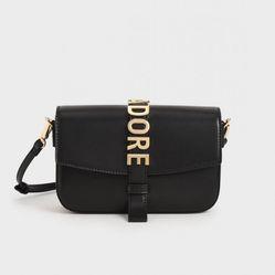 Túi Đeo Chéo Charles & Keith Adore Crossbody Bag CK2-80781456 Black Màu Đen