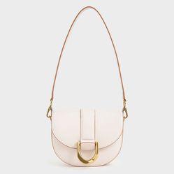 Túi Xách Charles & Keith Gabine Saddle Bag CK2-80781454 Mini Pink Màu Hồng Nhạt Size 18cm