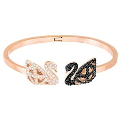 Vòng Đeo Tay Swarovski Facet Swan Bangle, Multi-colored, Mixed metal finish