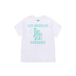 Áo Phông MLB Play Back Pixel Logo Overfit Short Sleeve T-shirt LA Dodgers Màu Trắng