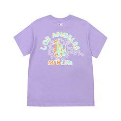 Áo Phông MLB Like Popcorn Overfit Short Sleeve T-Shirt LA Dodgers Màu Tím