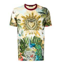 Áo Thun Dolce & Gabbana Short Sleeve T-Shirt Crew Neckline Jumper Tropical King In Phối Màu