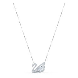 Dây Chuyền Swarovski Dancing Swan Necklace, White, Rhodium plated