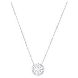 Dây Chuyền Swarovski Sparkling Dance Round Necklace White Rhodium Plated