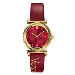 Đồng Hồ Nữ Versace VERE00418 V-Motif Vintage Logo Ladies Watch Màu Đỏ
