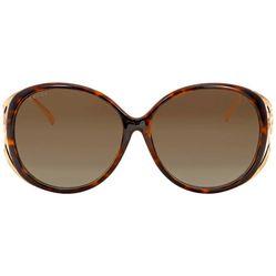 Kính Mát Gucci Brown Gradient Round Sunglasses GG0226SK 003 60 Màu Nâu