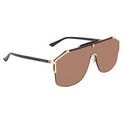 Kính Mát Gucci Brown Shield Men's Sunglasses GG0291S 002 99 Màu Nâu