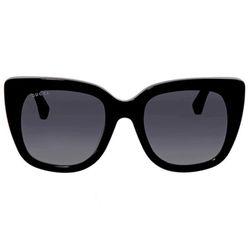 Kính Mát Gucci Grey Gradient Square Ladies Sunglasses GG0163S 001 51 Màu Xám