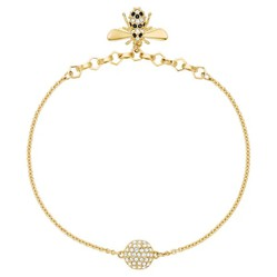 Vòng Đeo Tay Swarovski Remix Collection Bee Strand, Black, Gold-Tone Plated