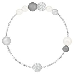 Vòng Đeo Tay Swarovski Remix Collection Pearl Strand, Gray, Rhodium Plated