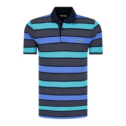 Áo Polo Lacoste Koszulka Meska Polo Shell Striped Màu Xanh Blue
