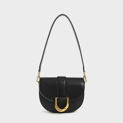 Túi Xách Charles & Keith Gabine Saddle Bag CK2-80781454 Mini Black Màu Đen Size 18cm