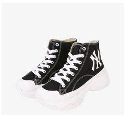 Giày MLB Chunky High New York Yankees Black Màu Đen Size 240