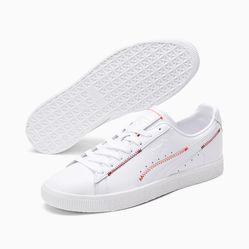 Giày Thể Thao Puma Clyde Stitch Màu Trắng Size 41