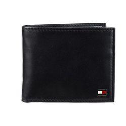 Ví Tommy Hilfiger Men's Leather Wallet – Slim Bifold With 6 Credit Card Màu Đen