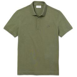Áo Phông Lacoste Paris Regular Fit Stretch Polo Màu Xanh Olive Size XS