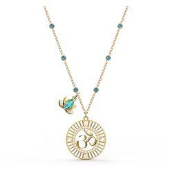 Dây Chuyền Swarovski Symbolic Lotus Pendantgreen, Gold-Tone Plated