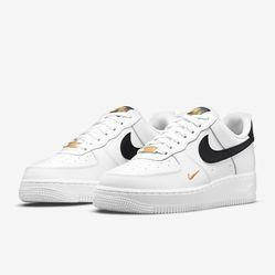 Giày Nike Air Force 1 Low 07 Essential White Black Gold CZ0270-102 Màu Trắng Đen