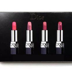 Set 4 Son Dior Rouge Màu Trà Sữa, Hồng Đất, Đỏ Tươi, Hồng San Hô