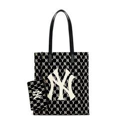Túi Xách MLB Monogram Shopper New York Yankees 3AORL011N-50BKS Màu Đen
