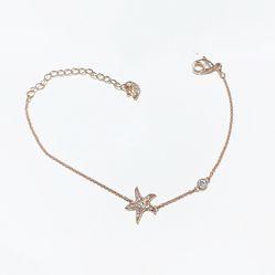 Vòng Đeo Tay Swarovski Star Bracelet Màu Vàng Hồng