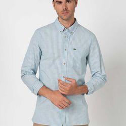 Áo Sơ Mi Lacoste Checkered Shirt CH4886-79A Màu Xanh Size 39