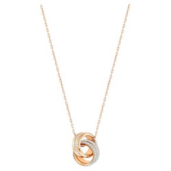 Dây Chuyền Swarovski Further Pendantsmall, White, Rose Gold-Tone Plated