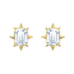 Khuyên Tai Swarovski TaRot Magic Stud Pierced Earrings White, Gold-Tone Plated