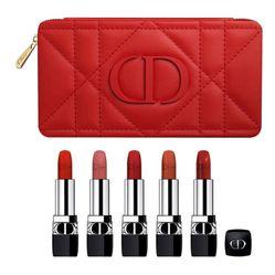Set Son Dior Rouge Refillable Lipstick Collection - Couture Color & Floral Lip Care 5 Màu