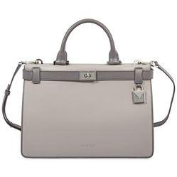 Túi Đeo Chéo Michael Kors Tatiana Medium Leather Satchel- Grey  Màu Xám