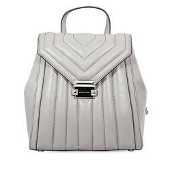 Ba lô Michael Kors Whitney Quilted Leather Backpack- Pearl Grey Màu Xám