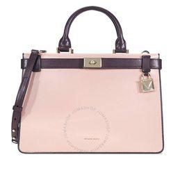 Túi Xách Tay Michael Kors Tatiana Medium Leather Satchel-Pink/Purple Màu Hồng