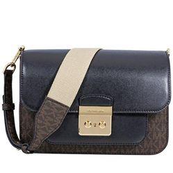 Túi Đeo Chéo Michael Kors Sloan Editor Large Shoulder Bag- Brown/Black Màu Đen