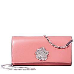 Túi Đeo Chéo Michael Kors Bellamie Leather Clutch - Rose Màu Hồng