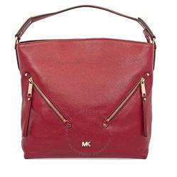Túi Xách Tay Michael Kors Evie Large Pebbled Leather Shoulder Bag- Maroon Màu Đỏ