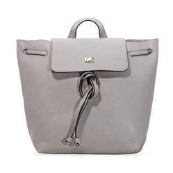 Túi Tote Michael Kors Junie Medium Pebbled Leather Backpack- Pearl Grey Màu Xám