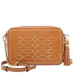 Túi Đeo Chéo Michael Kors Ginny Medium Studded Leather Crossbody- Acorn Màu Nâu