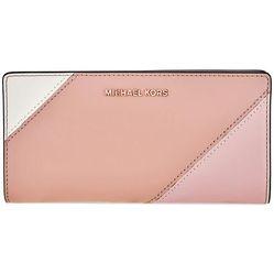Ví Cầm Tay Michael Kors Ladies Leather Slim Wallet Màu Hồng Nhạt