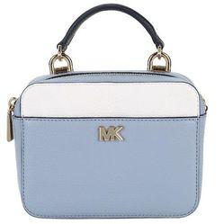 Túi Xách Tay Michael Kors Ladies Leather Blue/White Mini Guitar Strp Xbody Màu Xanh Dương
