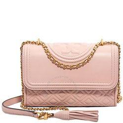 Túi Đeo Vai Tory Burch Fleming Small Convertible Leather Shoulder Bag- Shell Pink Màu Hồng