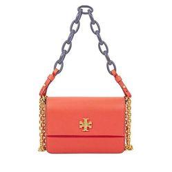 Túi Đeo Vai Tory Burch Kira Mini Shoulder Bag - Poppy Red/Navy Màu Đỏ Cam
