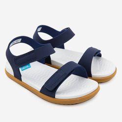 Sandals Trẻ Em Native C Charley Child (63105500) Regatta Blue/ Shell White/ Toffee Brown - C9