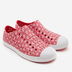 Giày Native Ad Jefferson Print (11100101) Torch Red/ Shell White/ Asanoha - 4W6