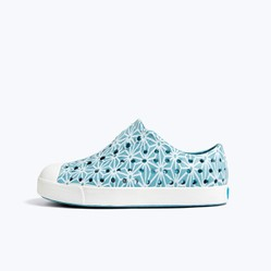 Giày Trẻ Em Native J Jefferson Print Junior (12100101) Fuji Blue/ Shell White/ Asanoha - J1