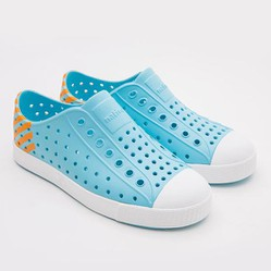 Giày Trẻ Em Native J Jefferson Block Junior (12100102) Hamachi Blue/ Shell White/ Lazer Glow Block - J1