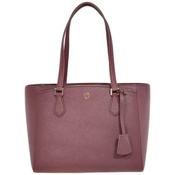 Túi Tote Tory Burch Robinson Small Triple-compartment Tote- Port  Màu Đỏ Đô