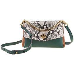 Túi Đeo Chéo Tory Burch Kira Exotic Crossbody Bag Màu Xanh Green