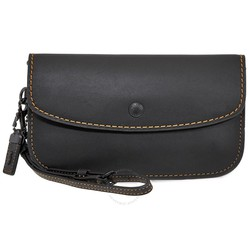 Ví Cầm Tay Coach Ladies Wristlet Wallet Coach 1941 Black Co Glovetan Clutch  Màu Đen